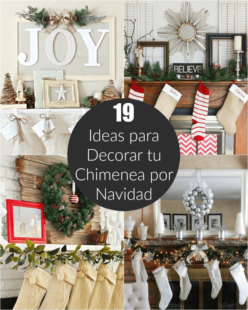 19 ideas para decorar tu chimenea por navidad for Ideas para decorar navidad 2017