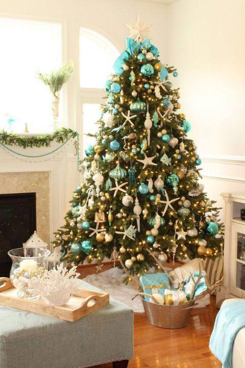 Navidad turquesa arboles 3 gu a para decorar for Arbol navidad turquesa