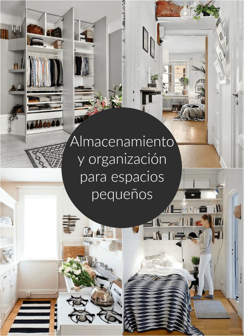 Almacenamiento y organización para espacios pequeños