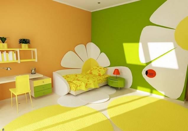 Decora el dormitorio de los ni os en verde y amarillo - Pintar habitacion infantil nino ...
