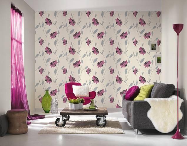 La nueva tendencia papel pintado con motivos florales en - Papel para salones ...