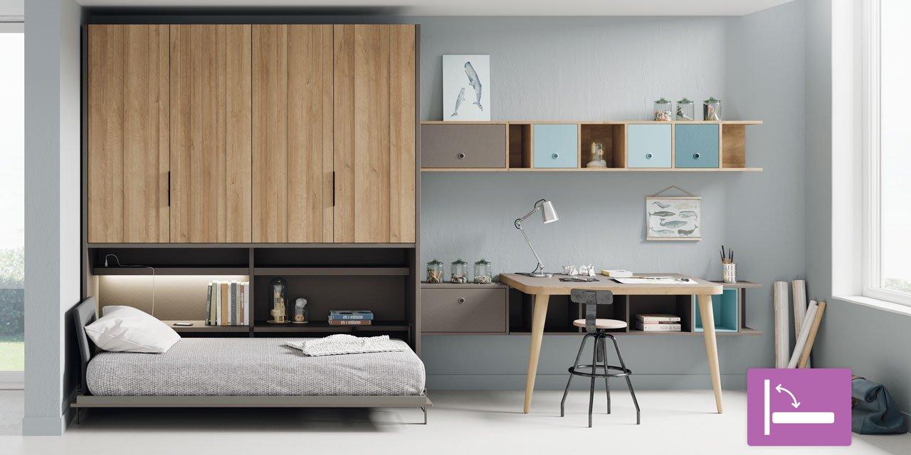 Lagrama presenta sus novedades para dormitorios juveniles - Dormitorios juveniles camas abatibles ...