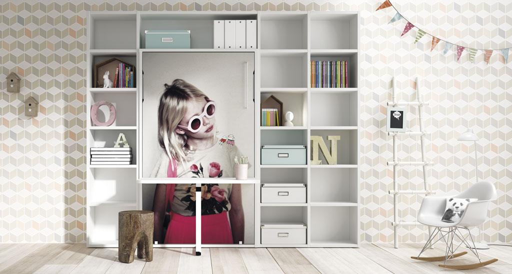 Lagrama presenta sus novedades para dormitorios juveniles - Habitaciones juveniles camas abatibles horizontales ...
