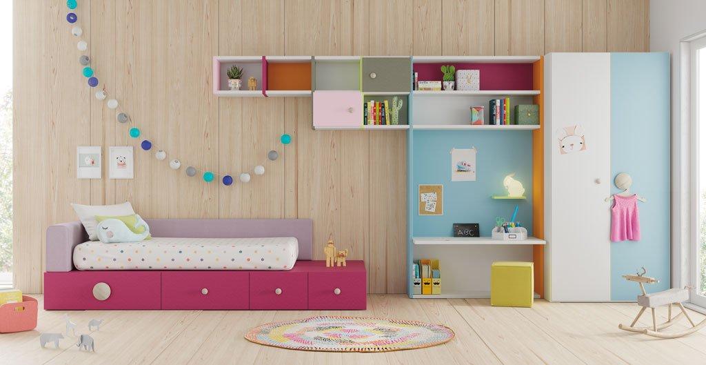 Lagrama presenta sus novedades para dormitorios juveniles - Dormitorios infantiles dobles ...