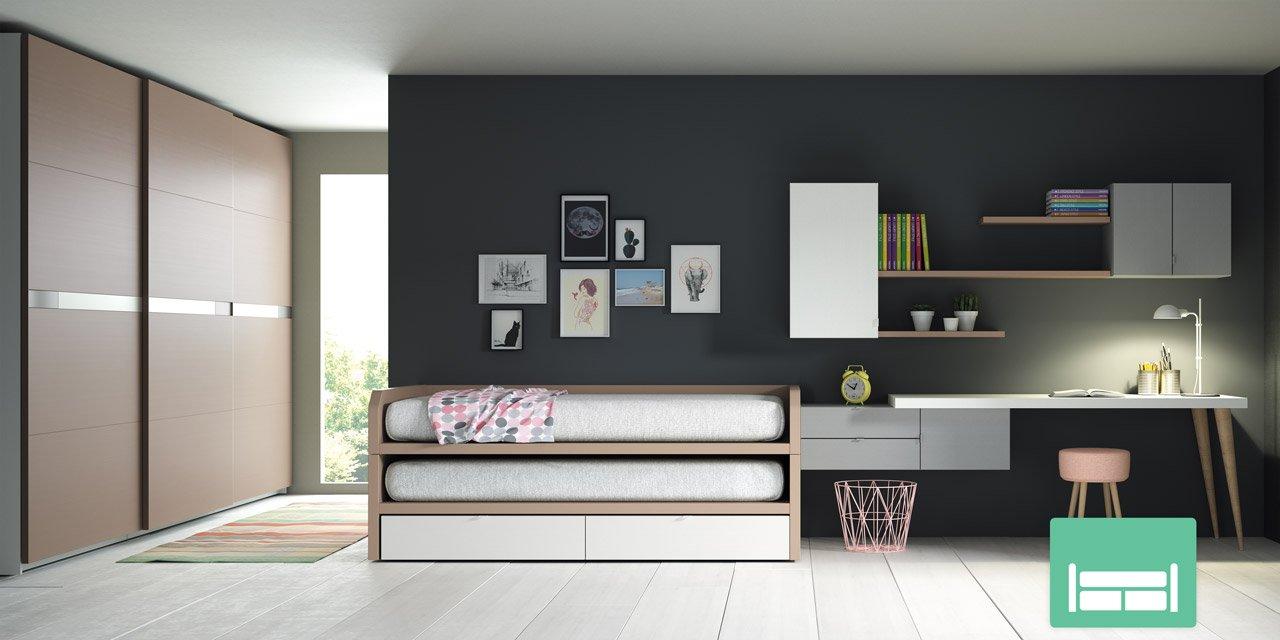 Lagrama presenta sus novedades para dormitorios juveniles for Muebles geminis