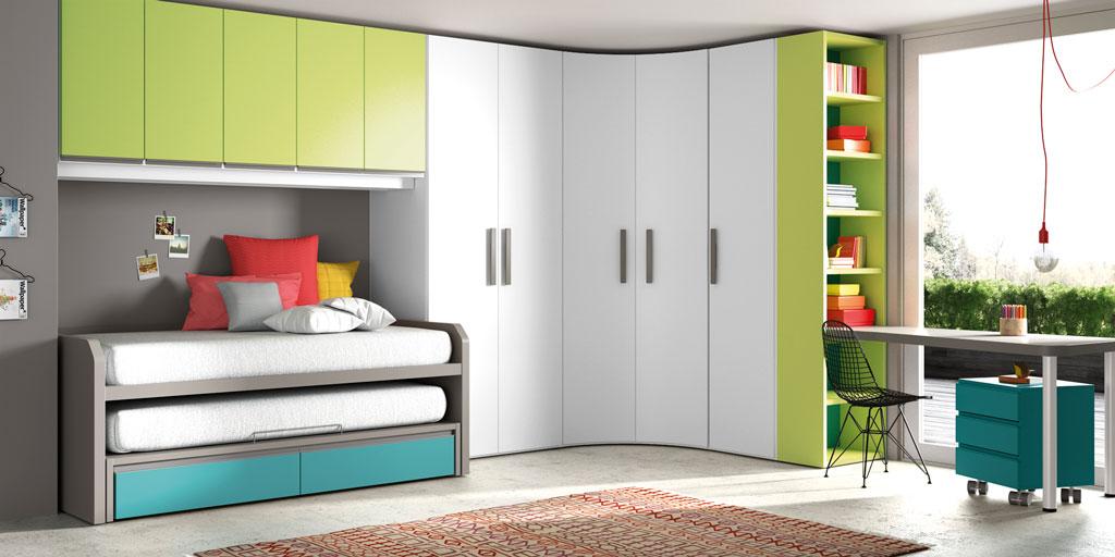 Lagrama presenta sus novedades para dormitorios juveniles for Armario rinconero ikea