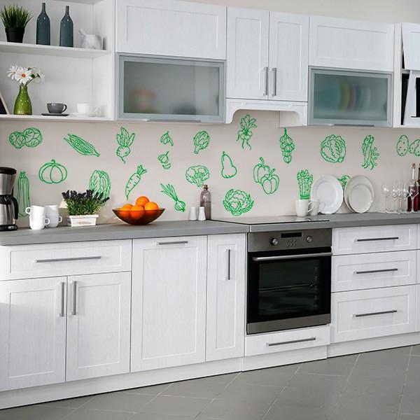 Renueva tu casa con poco dinero vinilos y papel pintado - Papel vinilico para cocinas ...