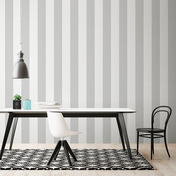 Renueva tu casa con poco dinero vinilos y papel pintado - Papel pintado gris ...
