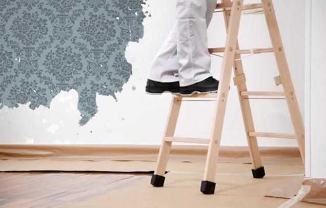 Consejos para quitar el papel pintado sin complicaciones for Quitar papel pintado