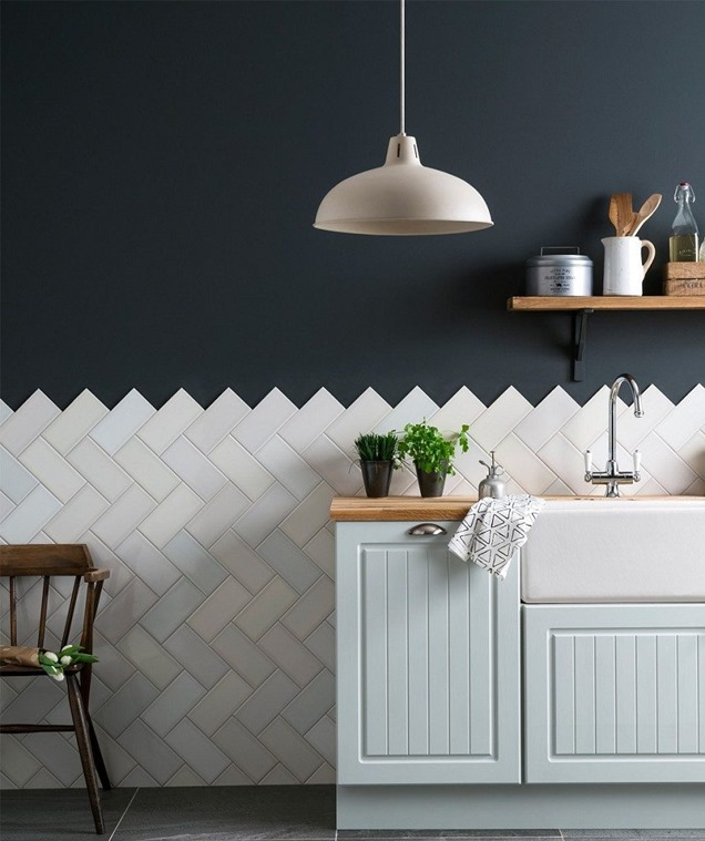 Ideas de cocinas elegantes en blanco y negro