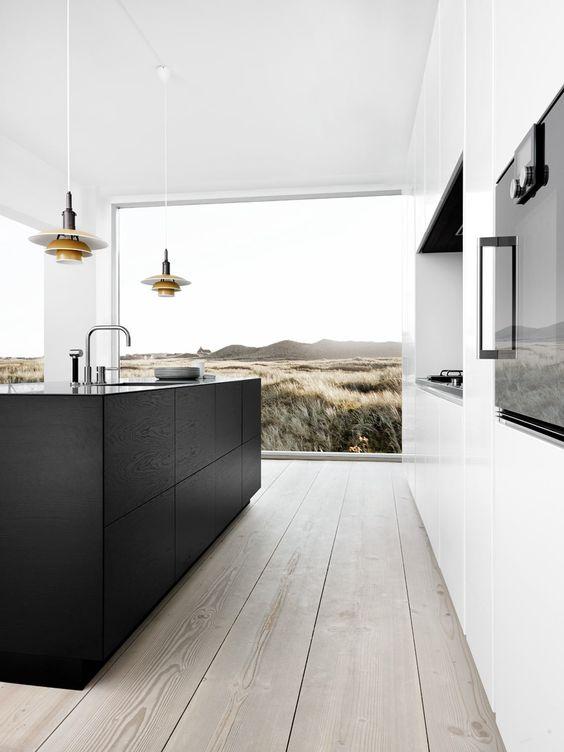 Ap ntate al cl sico fotos e ideas de cocinas en blanco y for Idea deco en blanco y negro