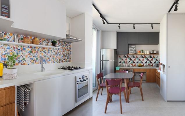 Diversas formas de insertar color en la cocina