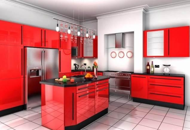 Cocinas En Rojo Guia Para Decorar - Cocinas-en-rojo