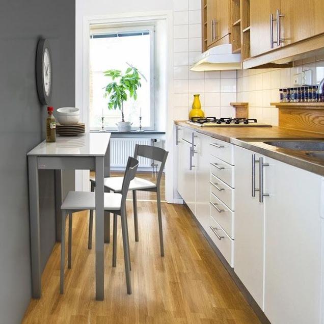 Consejos para decorar una cocina peque a alargada for Una cocina pequena