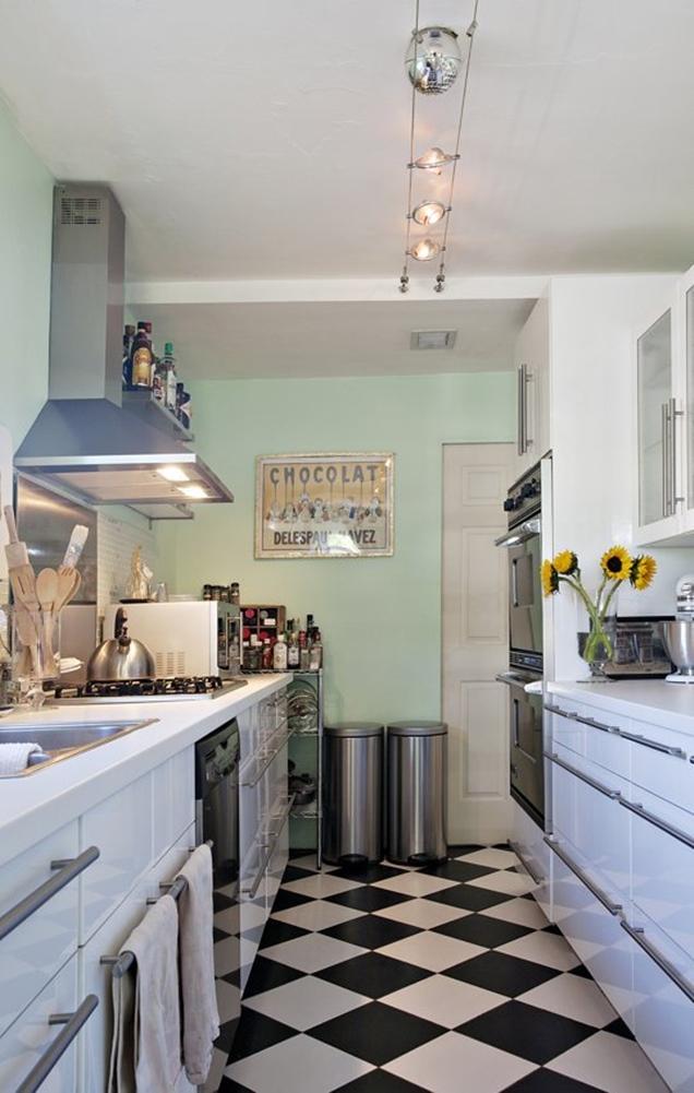 Consejos para decorar una cocina peque a alargada for Cocinetas para cocinas pequenas