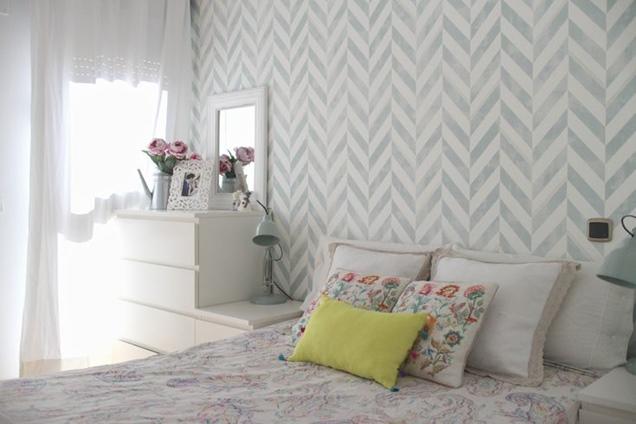15 modelos de papel mural para la habitaci n matrimonial - Papel pintado para recibidores ...