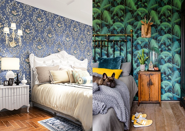 15 modelos de papel mural para la habitaci n matrimonial
