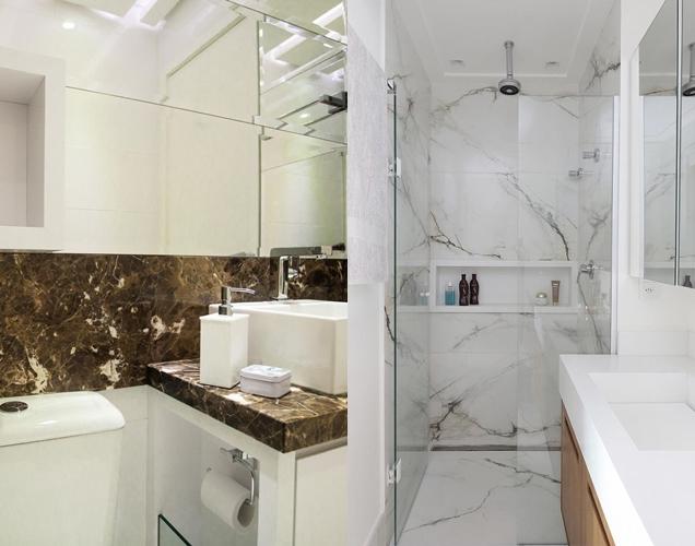 Tipos de revestimiento para el bano y fotos marmol gu a para decorar - Revestimiento para bano ...