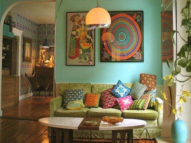 Decoraci n de interiores estilo a os 70 for Papel pintado de los 70