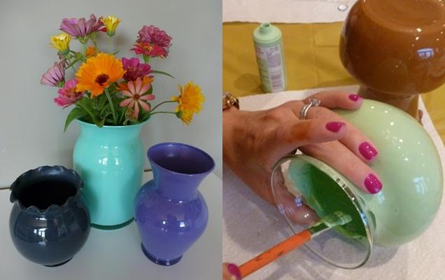 Como pintar frascos de vidrio7
