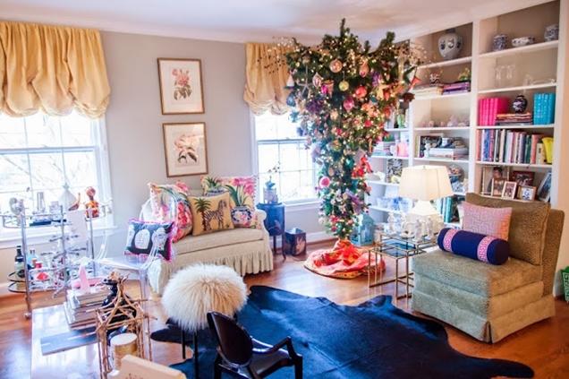Las mejores ideas de decoracion para un arbol de Navidad al reves