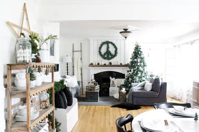formas de decorar la sala de estar para Navidad