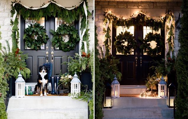 10 ideas para decorar el exterior con luces de navidad - Luces para patios ...