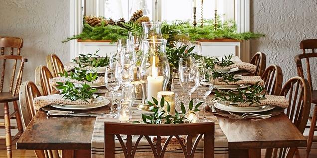 decoraciones navidenas para la cena