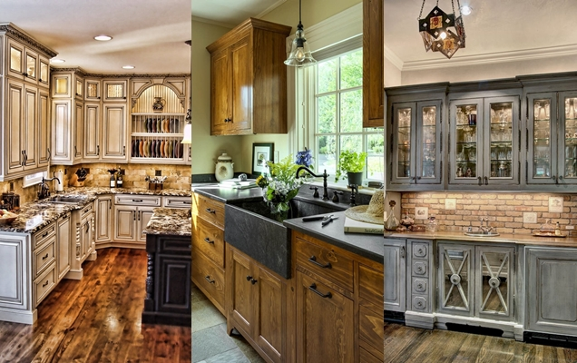18 ideas y diseños de gabinetes de cocina rústicos