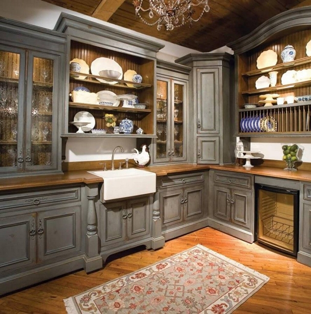 18 ideas y dise os de gabinetes de cocina r sticos On gabinetes de cocina rusticos