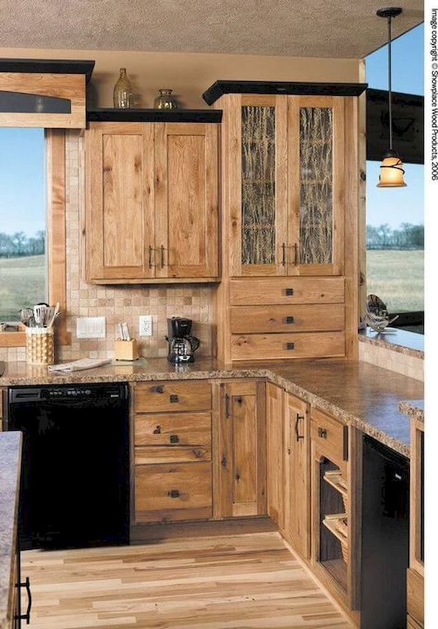 Hickory Kitchen Cabinets With Island