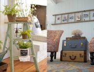 imagen 10 maneras de decorar con escaleras vintage