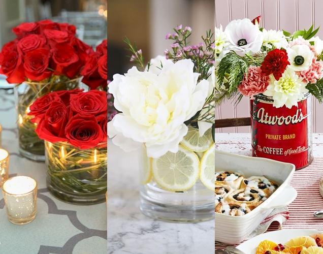 centros de flores para decorar tu hogar en Navidad