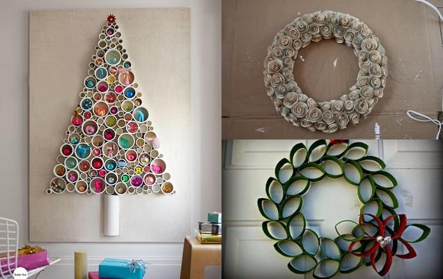 ideas de adornos de Navidad reciclados